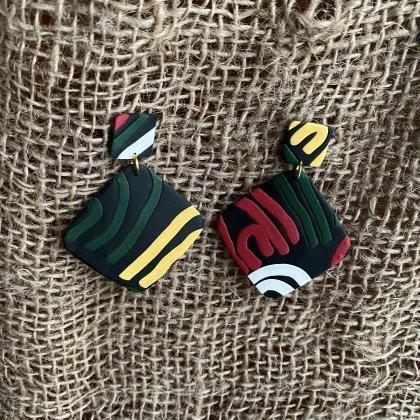 Polymer Clay Drop Earrings | Ava Po..