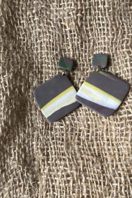 Ava | Bae's Creations | Handmade Polymer Clay Earrings | Polymer Clay Drop Earrings | Black Owned