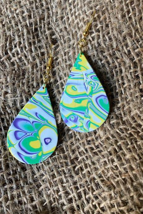 Brittney | Amoeba Collection | Multi-color Polymer Clay Earrings | Lightweight Polymer Clay Dangle Earrings | Handmade Clay Earrings | Black Owned